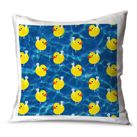 Lacrosse Throw Pillow Rubber Ducky Lacrosse
