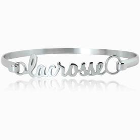 Lacrosse (Script) Stainless Steel Bracelet