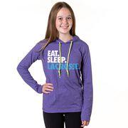 Girls Lacrosse Lightweight Hoodie - Eat Sleep Lacrosse