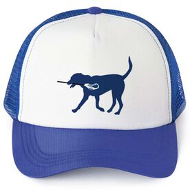 Lacrosse Trucker Hat Max The Lax Dog