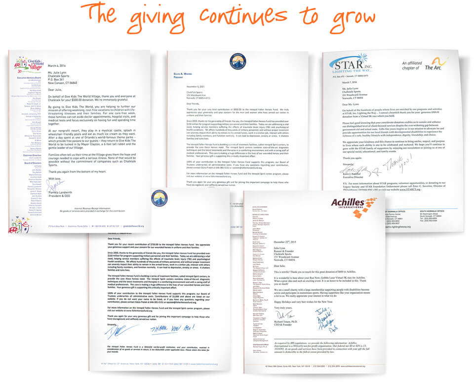 The Giving Continues to Grow