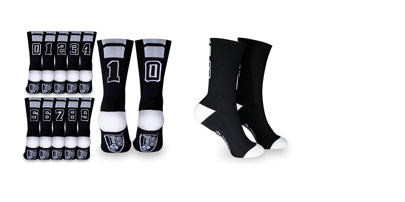 Team Number Socks