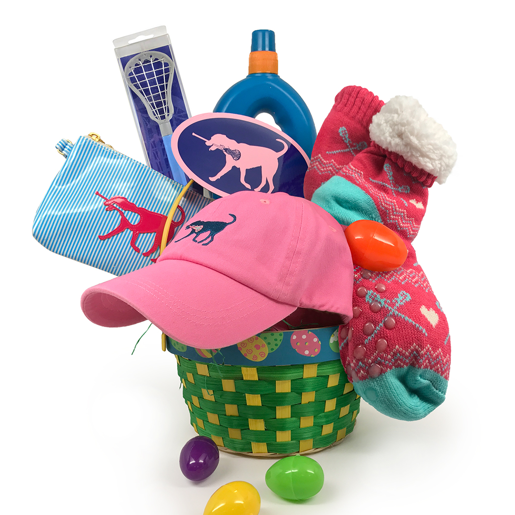 LLL Girls Laccrosse Lax Dog Easter Basket