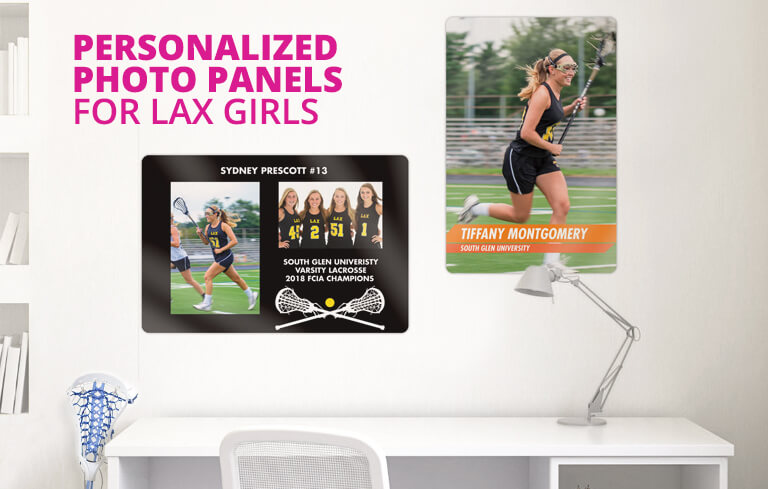 Personalized Photo Panel of Your Lax Girl