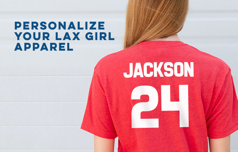 Personalize Your Girls Lacrosse Apparel