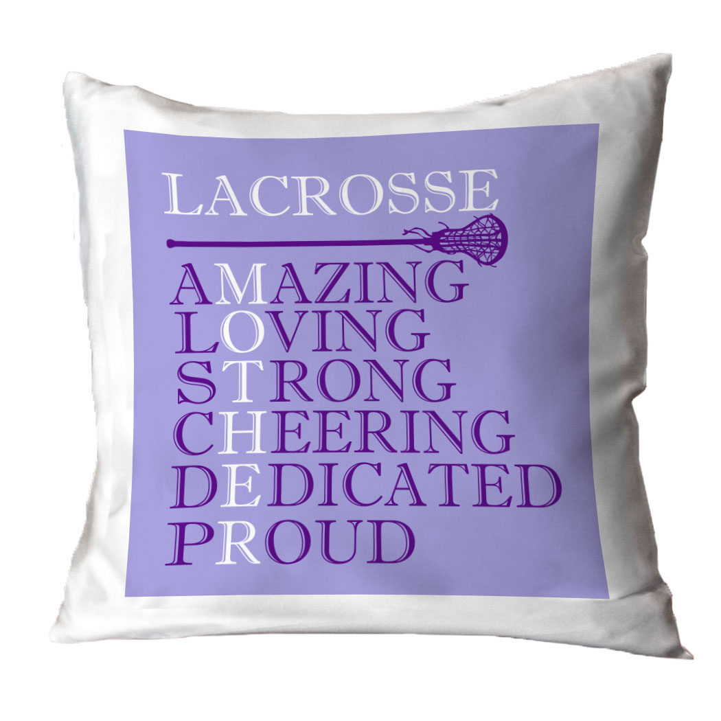 Girls Lacrosse Throw Pillow - Mother Words   LuLaLax