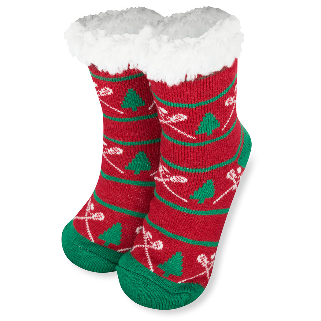 e0e181ca285 Lacrosse Slipper Socks with Sherpa Lining (Christmas) Click to Enlarge