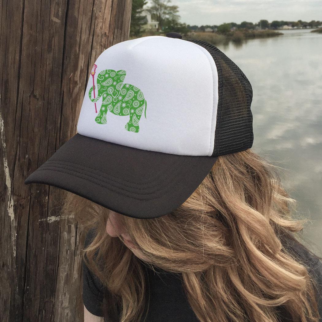 ... Girls Lacrosse Trucker Hat - Lax Elephant 18fec9a57f76
