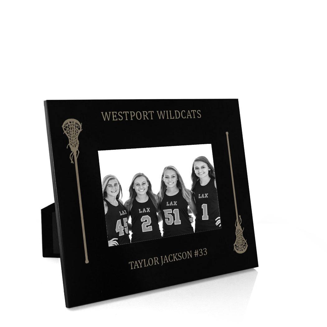 girls lacrosse engraved picture frame side sticks - Engraved Photo Frame
