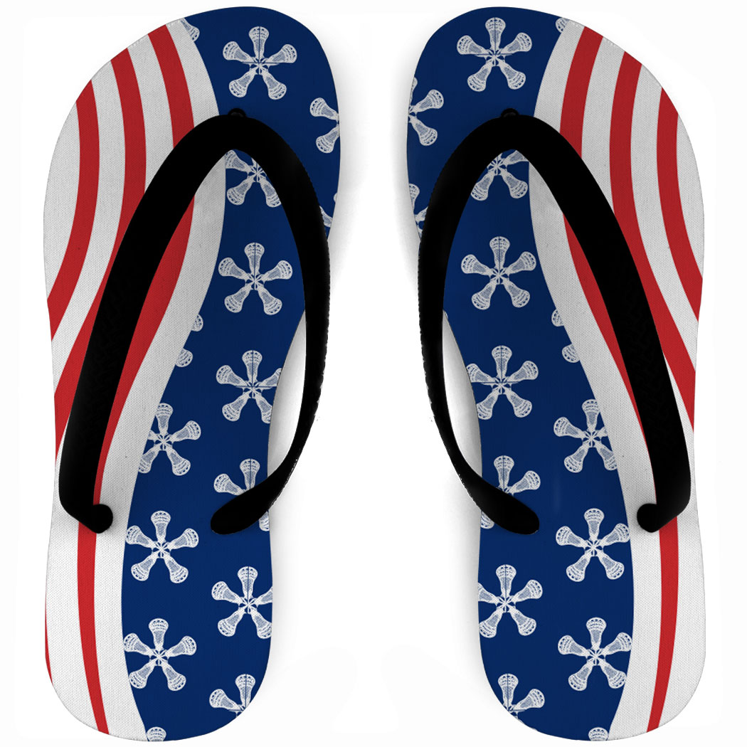 1454a7ab5bf1 Girls Lacrosse Flip Flops American Flag Click to Enlarge