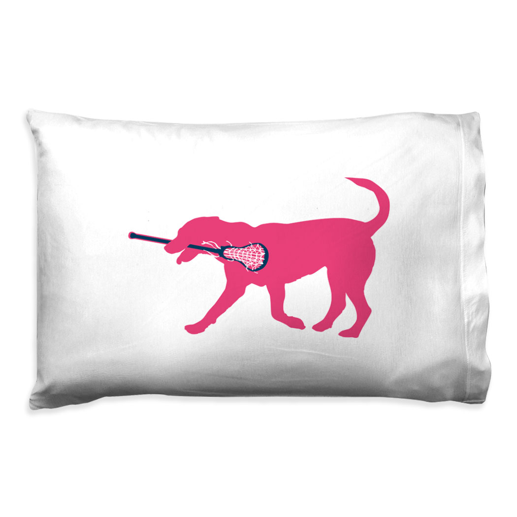Girls Lacrosse Pillowcase - Lula The Lax Dog