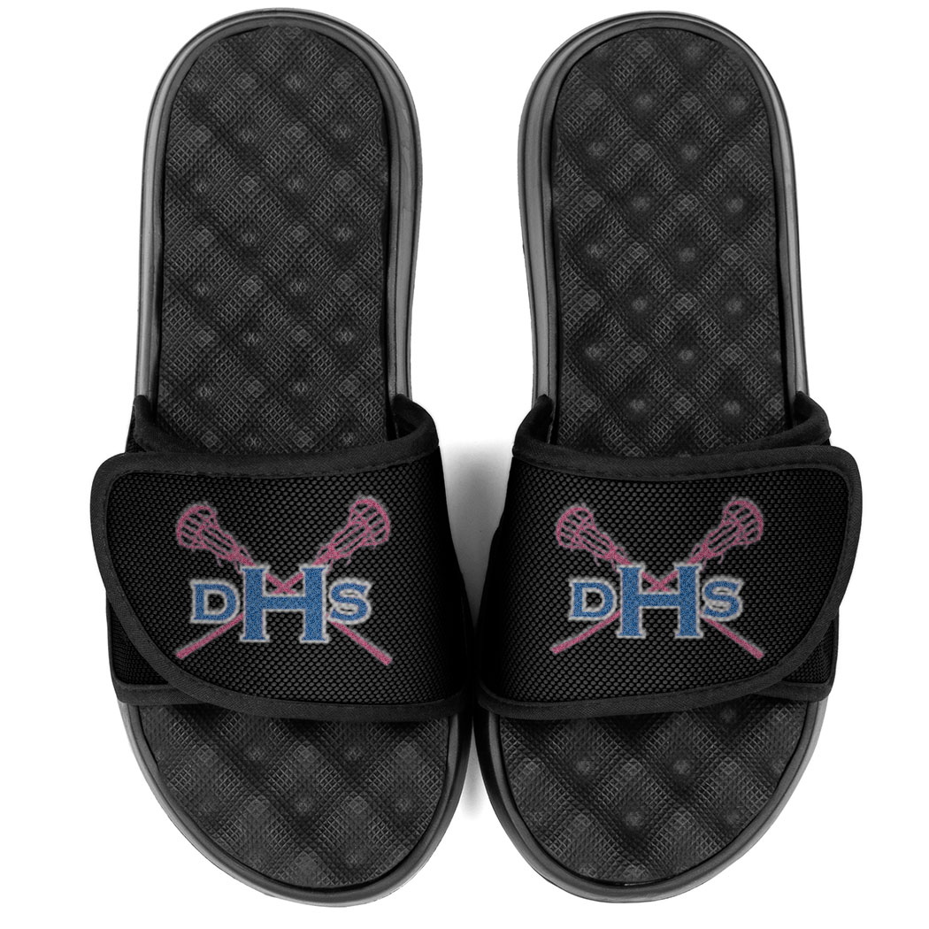 9276db91144b Girls Lacrosse PR SOLES Adjustable Strap Recovery Slide Sandals ...