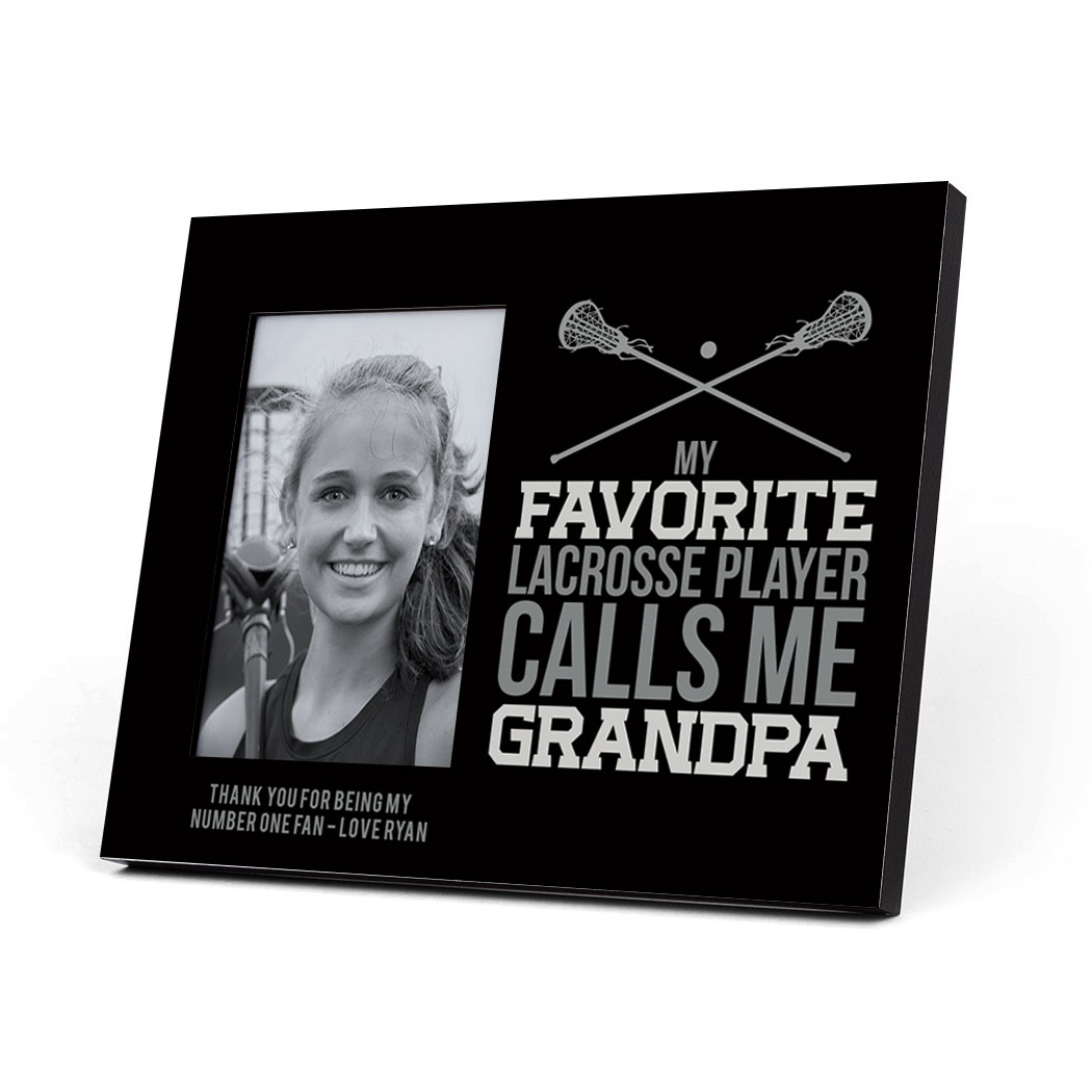 Girls Lacrosse Photo Frame - Grandpa | LuLaLax