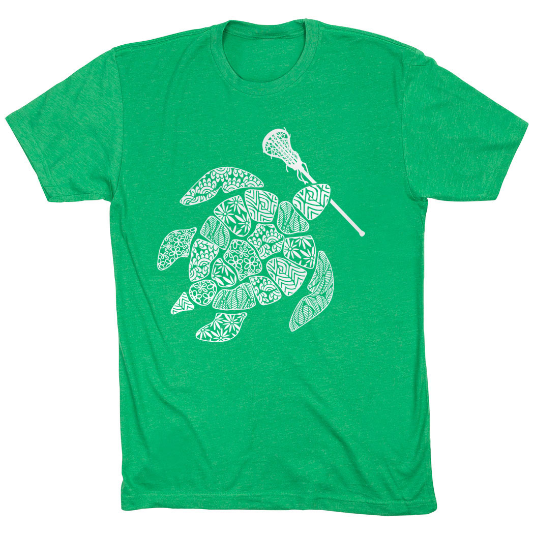 Girls Lacrosse Short Sleeve T-Shirt - Lax Turtle - Personalization Image