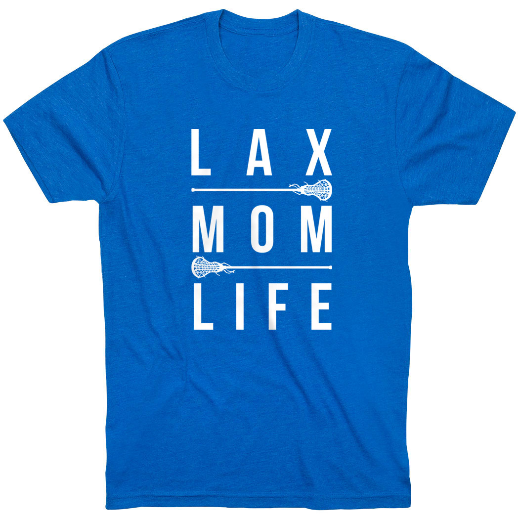 Girls Lacrosse Short Sleeve T-Shirt - Lax Mom Life - Personalization Image