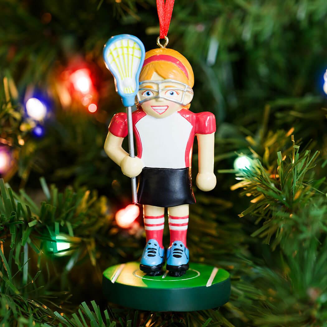 Girls Lacrosse Ornament  Lacrosse Player Nutcracker  LuLaLax