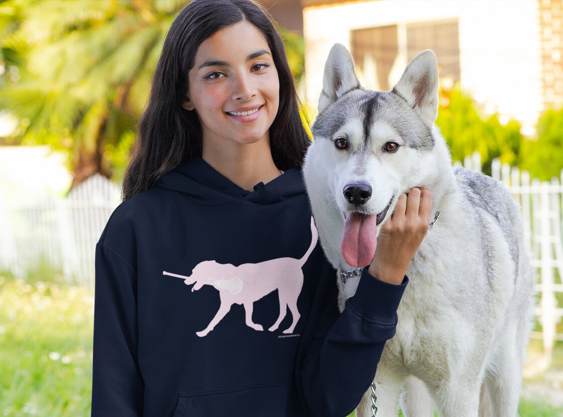 LuLa the Lax Dog Hooded Sweatshirt