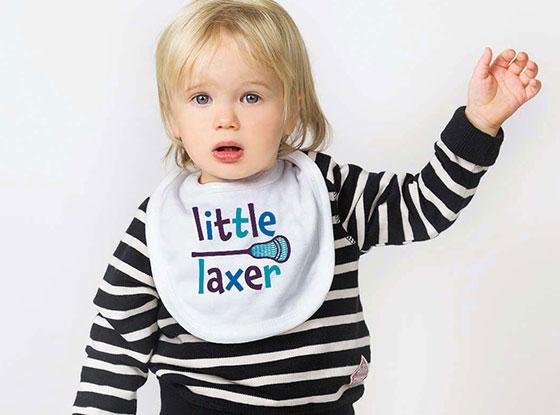 Little Laxer Girls Lacrosse Baby Bib