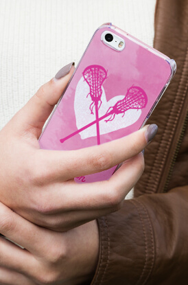 Watercolor Heart Lacrosse iPhone Case