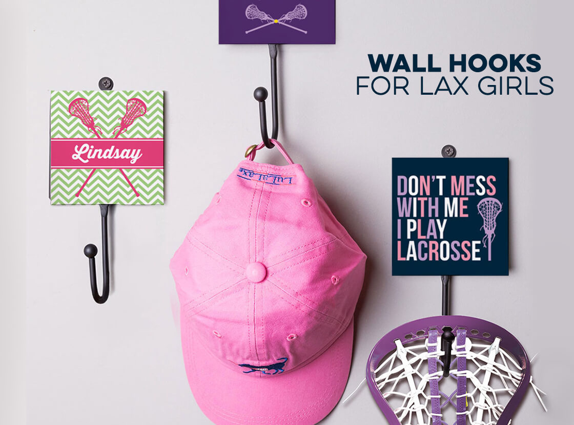Shop Wall Hooks for Lax Girls!