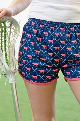 Girl Wearing Lula Lacrosse Shorts Lifestyle Image