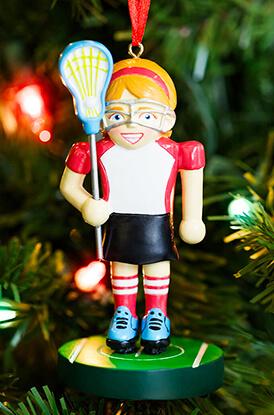 Girls Lacrosse Player Nutcracker Ornament