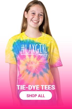 Shop Girls Lacrosse Tie-Dye Tees