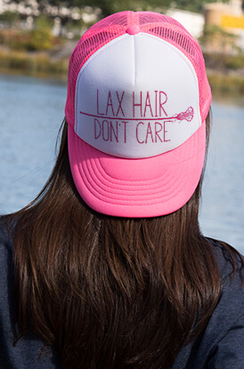 Lax Hair Don't Care Trucker Hat