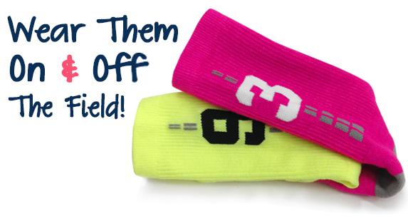 Girls Lacrosse Woven Socks