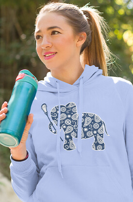 Lax Elephant Hooded Sweatshirt