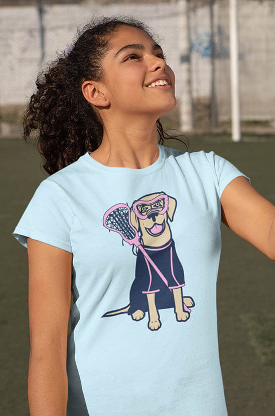 Shop Our Lily The Lacrosse Dog Tee