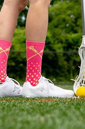 Girl Wearing Lacrosse Malibu Mid Calf Socks Lifestyle Image