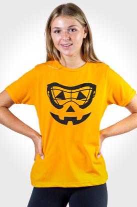 Girls Lacrosse Goggle Pumpkin Face Tee