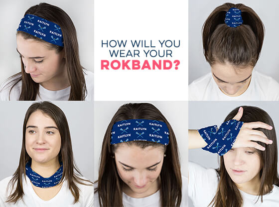 Multifunctional Headwear - Personalized Crossed Sticks RokBAND
