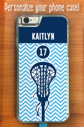Chevron Name and Number Lacrosse iPhone Case