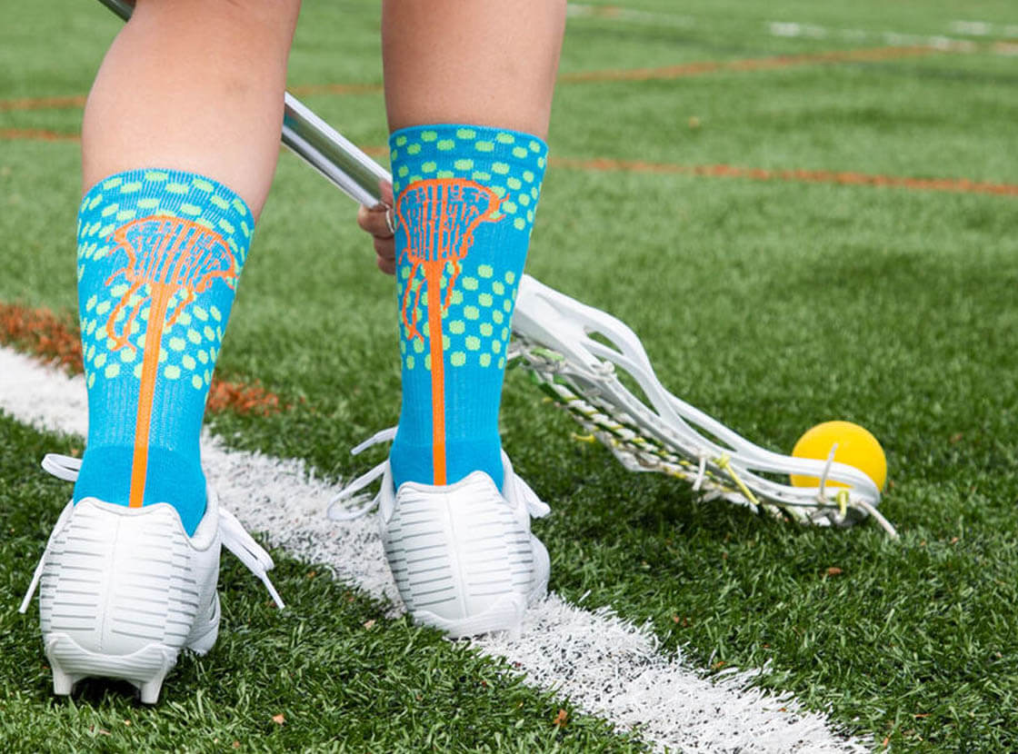 Shop Our Girls Lacrosse Mid-Calf Socks