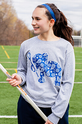 Lax Elephant Long Sleeve T-Shirt