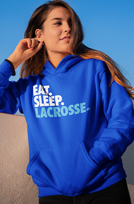 Eat Sleep Lacrosse Hooded Sweatshirt