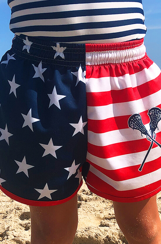 Shop Our Girls Lacrosse USA Shorts