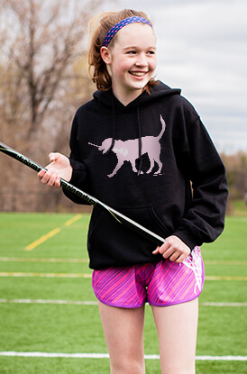 LuLa the Lax Dog (Pink) Hooded Sweatshirt