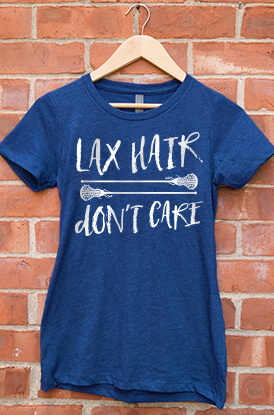 Lax Hair Don't Care Short Sleeve T-Shirt
