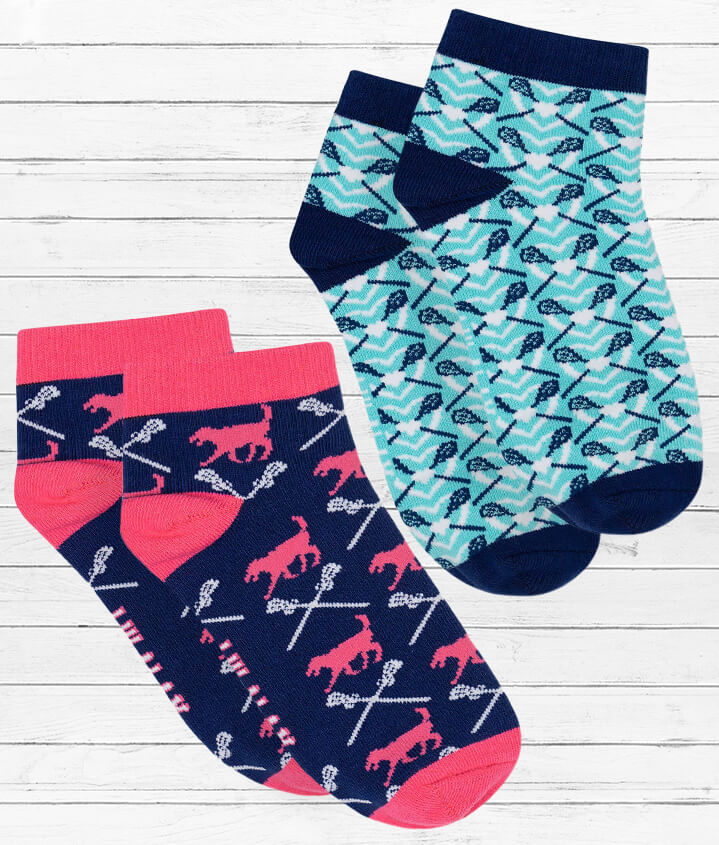Lax Girl Ankle Socks