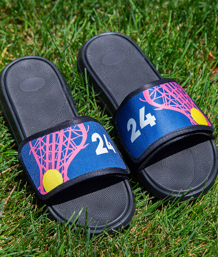 Girls Lacrosse Slide Sandals