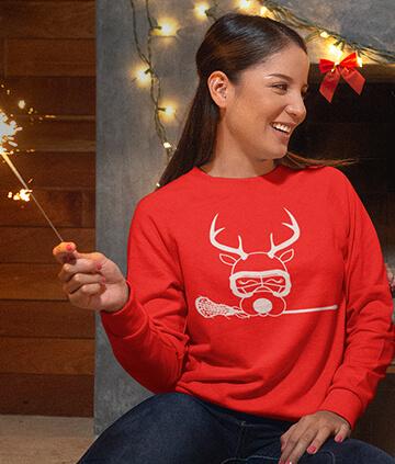 Lacrosse Crew Neck Sweatshirts