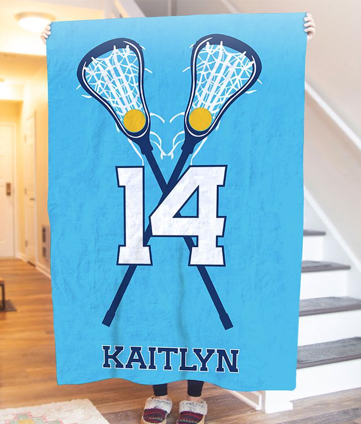 Girls Lacrosse Blankets